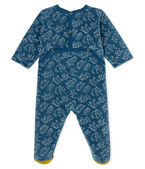 Dors bien bébé garçon en côte bleu Shadow / blanc Marshmallow