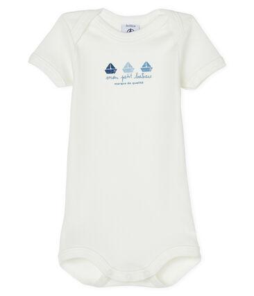 Body manches courtes bébé garçon-fille blanc Marshmallow