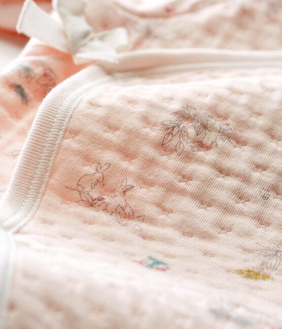 Dors bien bébé fille en tubique rose Vienne / bleu Fontaine
