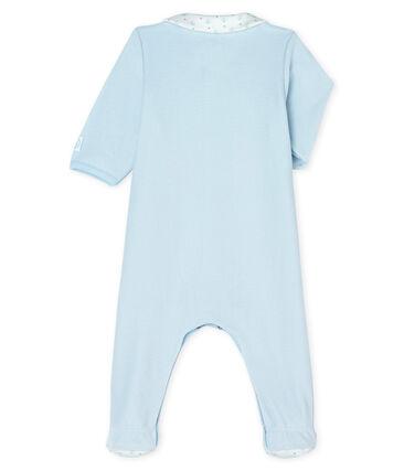 Dors bien bébé garçon en velours bleu Fraicheur