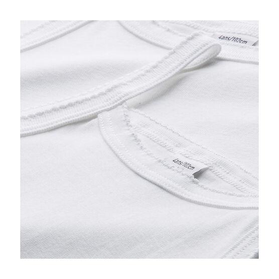 Lot de 2 chemises à bretelles blanches petite fille lot .