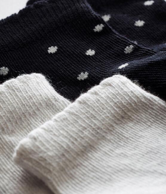 Lot de deux paires de chaussettes bébé fille lot .