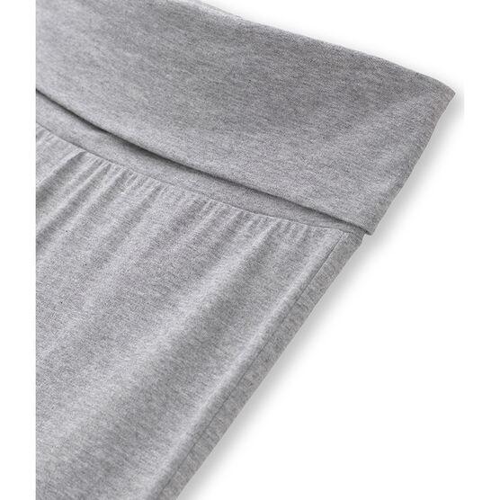 Pantalon danseuse femme en jersey lycra uni gris Poussiere Chine