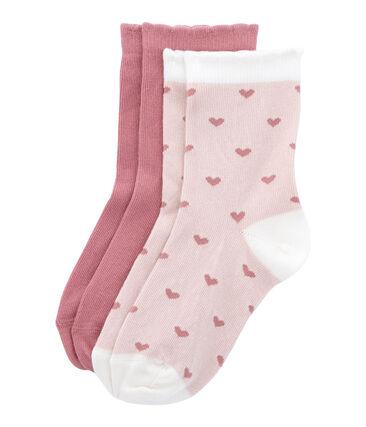 Lot de 2 paires de chaussettes colorées et à motif