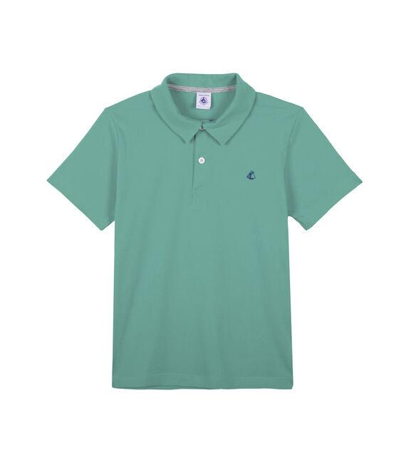 Polo enfant garçon vert Aloevera