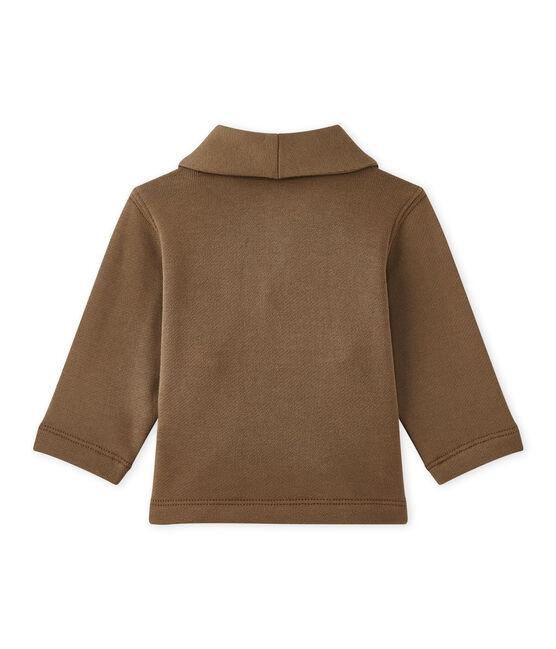 Veste bébé garçon en molleton marron Shitake