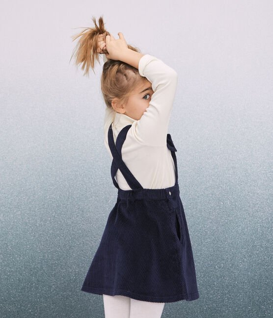 Robe salopette enfant fille bleu Smoking
