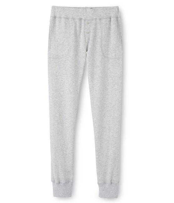 Pantalon femme en tubique extrafin gris Poussiere Chine
