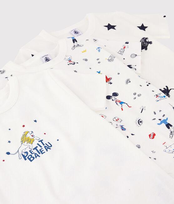 Lot de 3 tee-shirts manches courte imprimé festif petit garçon lot .
