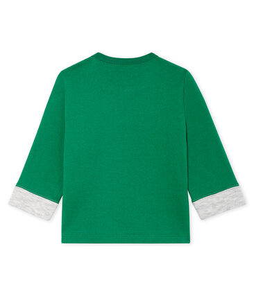 Tee shirt manches longues bébé garçon vert Ecology