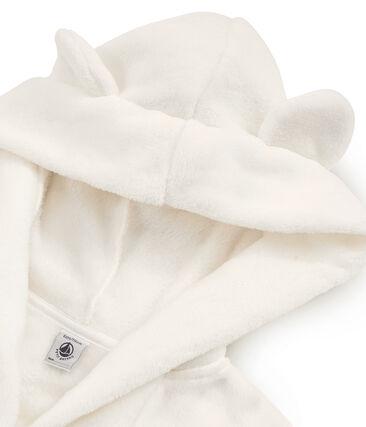 Robe de chambre petit garçon en polaire blanc Marshmallow