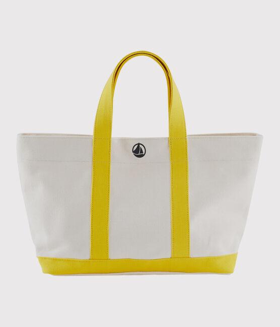 Sac cabas blanc Marshmallow / jaune Shine