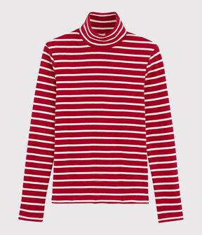 Sous pull iconique Femme rouge Terkuit / blanc Marshmallow
