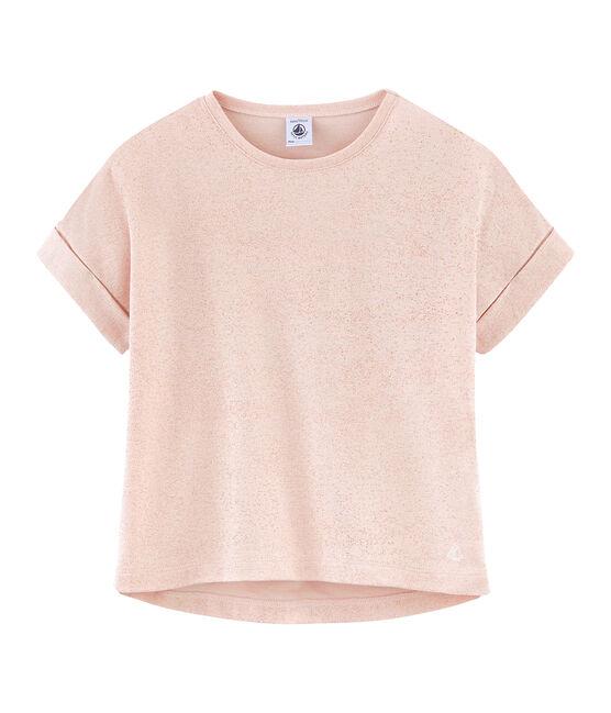 Tee-shirt à manches courtes enfant fille rose Pearl / rose Copper