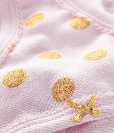 Culotte petite fille rose Vienne / jaune Or