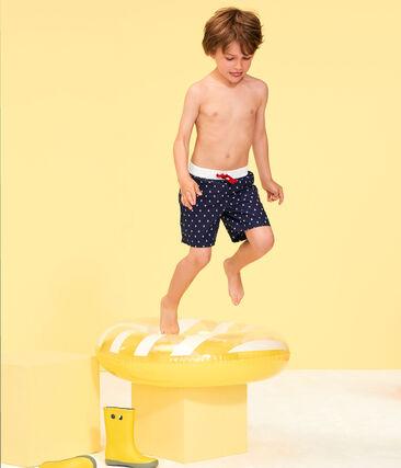 Short de plage enfant garcon bleu Submarine / blanc Multico