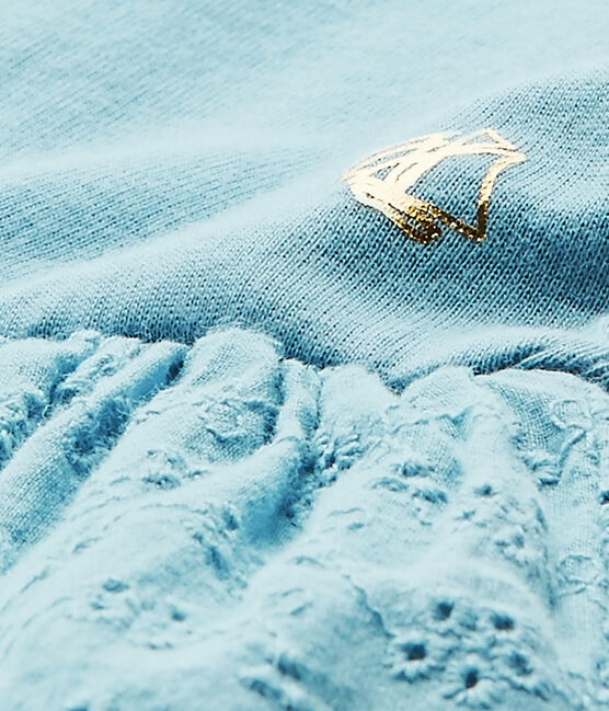 Robe bébé fille manches papillons bleu Mimi