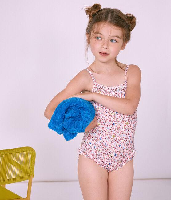 Maillot de bain 1 pièce enfant fille blanc Marshmallow / blanc Multico