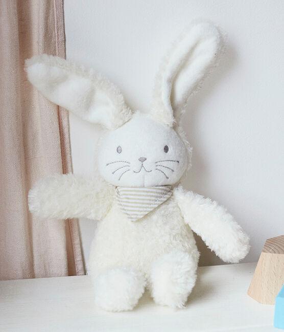 Doudou lapin musical bébé en sherpa blanc Marshmallow