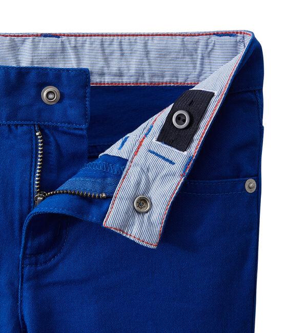 Pantalon de couleur garçon en jean bleu Perse