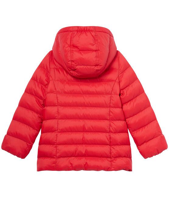 Doudoune fille à capuche rouge Froufrou