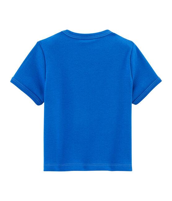 Tee-shirt uni bébé garçon bleu Delft