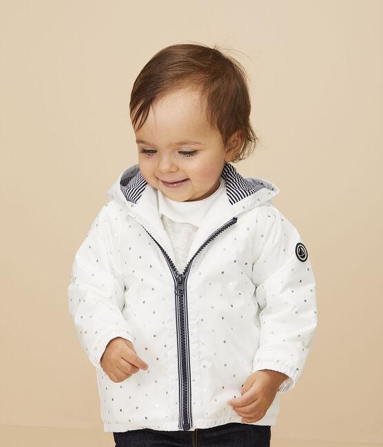 Blouson bébé fille/garçon imprimé blanc Marshmallow / gris Argent