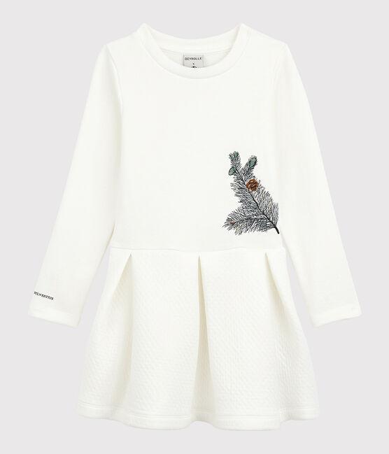 Robe enfant fille Petit Bateau x Deyrolle blanc Marshmallow
