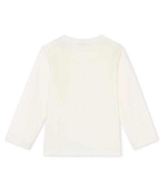 Tee shirt manches longues bébé blanc Marshmallow