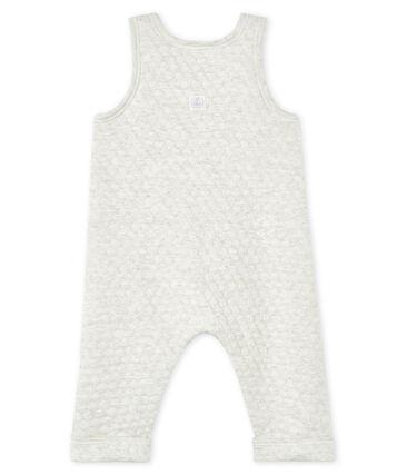 Salopette bébé fille en tubique matelassé gris Montelimar Chine