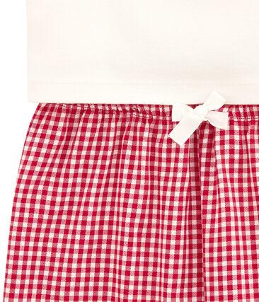 Pyjama fille bimatière à carreaux