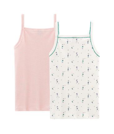 Duo de chemises à bretelles petite fille