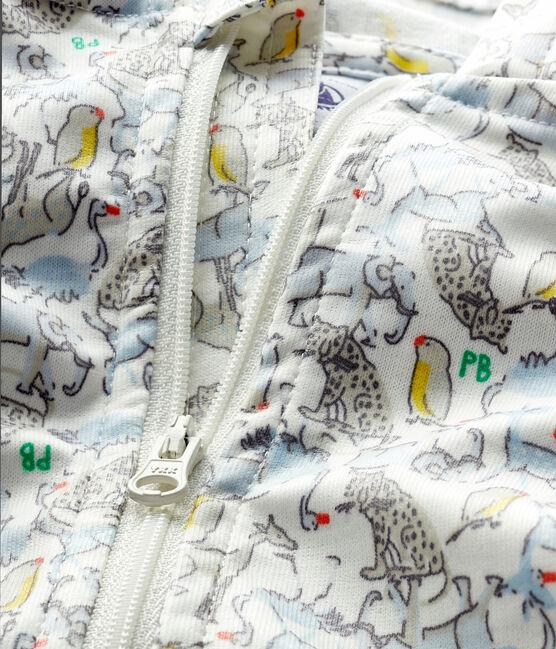 Coupe-vent imprimé bébé mixte blanc Marshmallow / bleu Brut