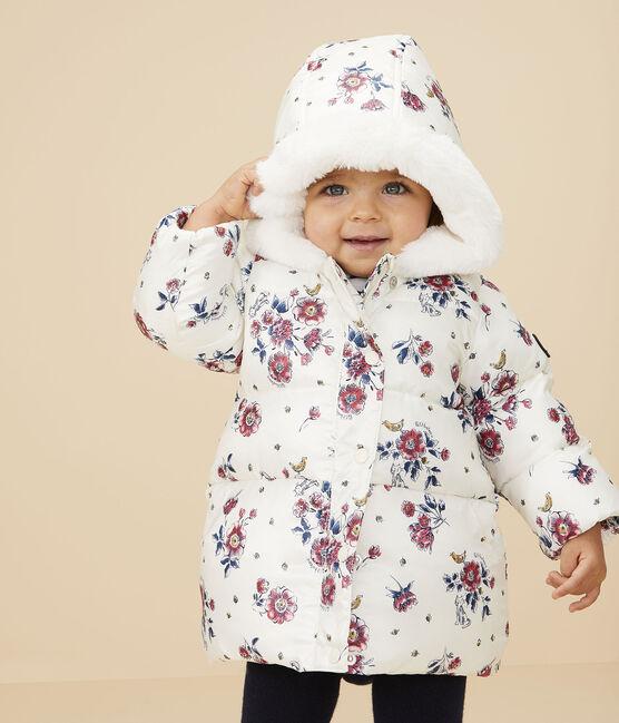 Doudoune bébé fille blanc Marshmallow / blanc Multico