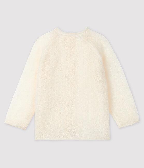 Cardigan bébé fille en tricot blanc Marshmallow