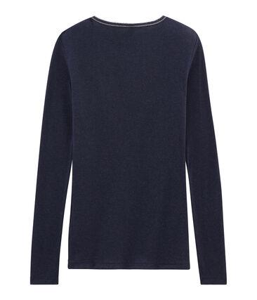 Tee shirt chaud femme bleu Smoking