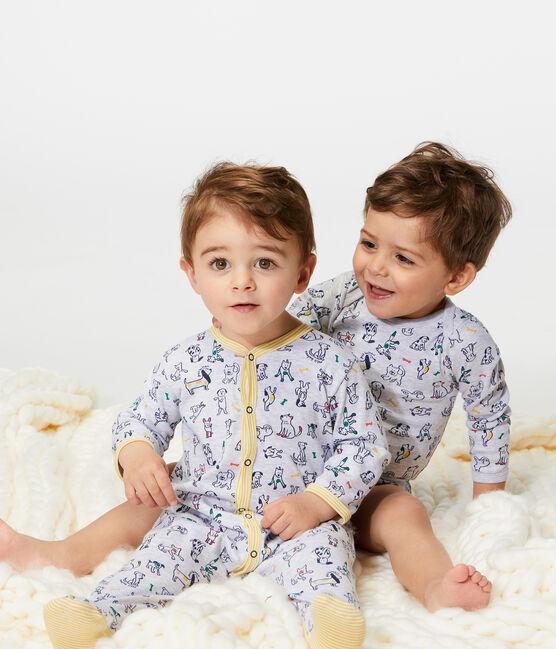 Dors bien bébé garçon en côte gris Poussiere / blanc Multico