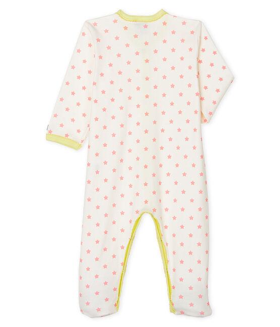 Dors bien bébé fille en côte blanc Marshmallow / rose Gretel