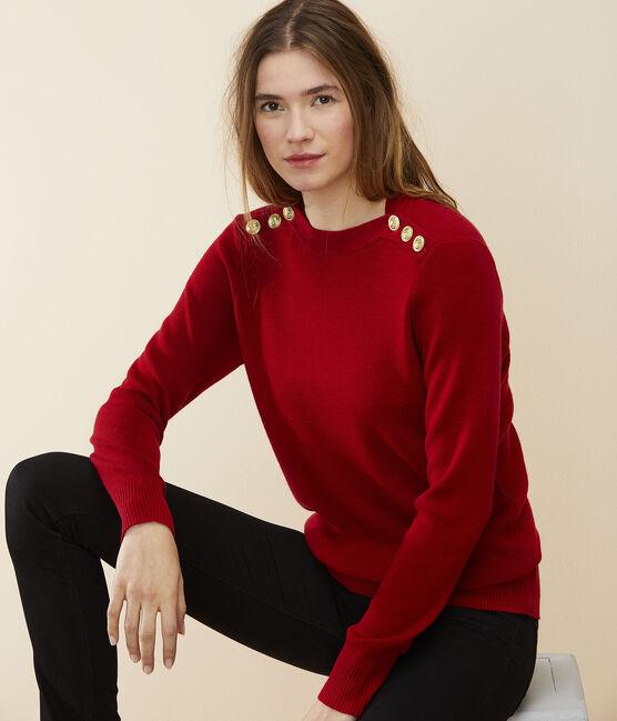 Pull laine Femme rouge Terkuit