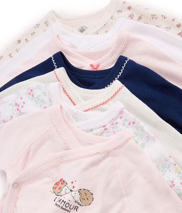 Pochette surprise de 7 bodies naissance manches longues bébé fille lot .