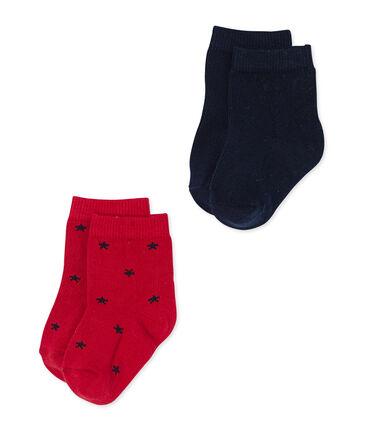 Lot de chaussettes bébé garçon unies + étoiles lot .