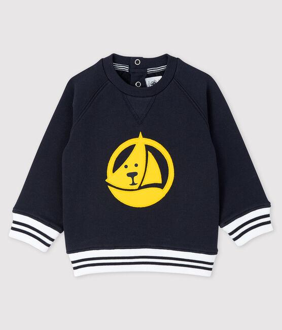 Sweatshirt bébé garçon imprimé bleu Smoking