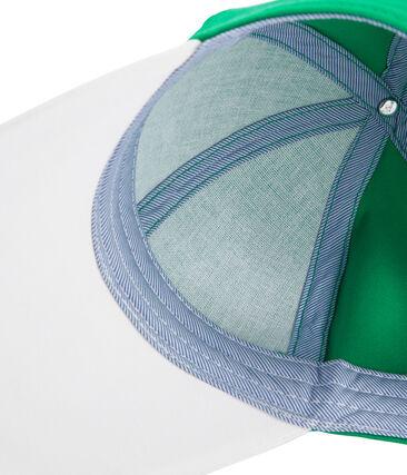 Casquette en twill enfant garçon vert Prado / blanc Marshmallow