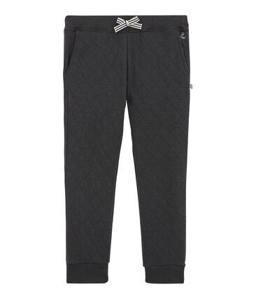Pantalon garçon en tubique matelassé gris Capecod