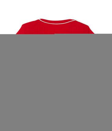 Tee shirt manches courtes bébé garçon rouge Terkuit
