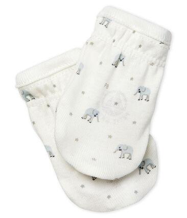 Paire de moufles bébé en côte