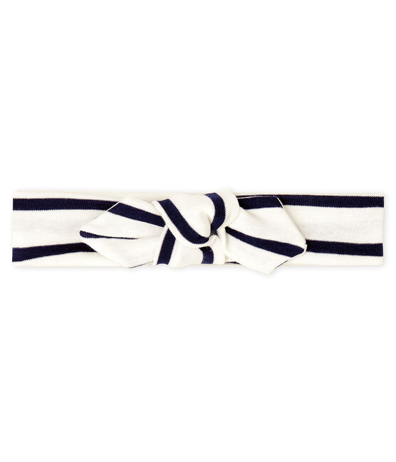 Bandeau enfant fille blanc Marshmallow / bleu Smoking