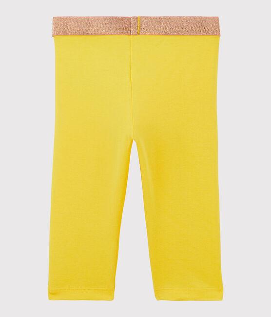 Legging court en jersey lycra enfant fille jaune Shine