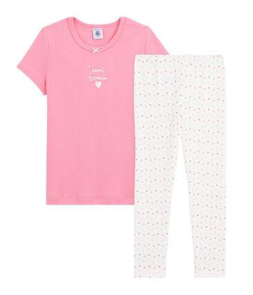 Pyjama cœur petite fille en côte