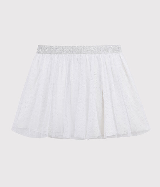 Jupe en tulle enfant fille blanc Marshmallow / gris Argent